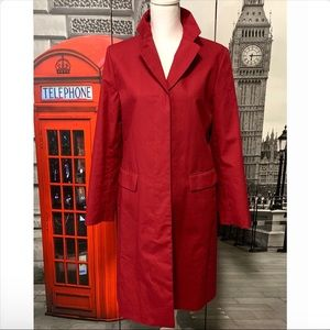 Brooks Brothers 346 Red Trench Coat Size Medium